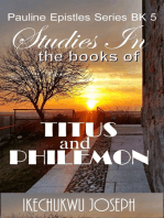 Studies in the Books of Titus and Philemon