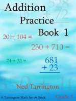 Addition Practice Book 1, Grade 3