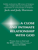 A Close and Intimate Relationship with God
