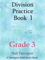 Division Practice Book 1, Grade 3
