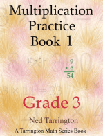 Multiplication Practice Book 1, Grade 3