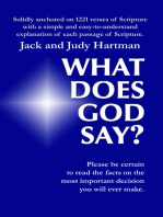 What Does God Say?