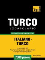 Vocabolario Italiano-Turco per studio autodidattico