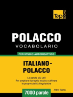 Vocabolario Italiano-Polacco per studio autodidattico