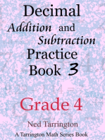 Decimal Addition and Subtraction Practice Book 3, Grade 4