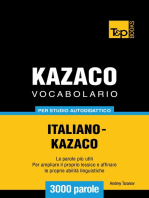 Vocabolario Italiano-Kazaco per studio autodidattico
