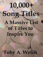 10,000+ Song Titles