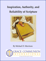 Inspiration, Authority, and Reliability of Scripture
