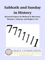 Sabbath and Sunday in History