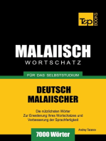 Deutsch-Malaiischer Wortschatz für das Selbststudium