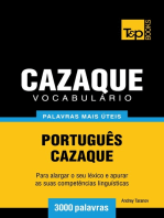 Vocabulário Português-Cazaque