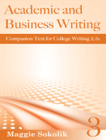 Academic and Business Writing, Workbook 3