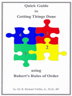 Quick Guide to Getting Things Done using Robert's Rules of Order