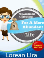 492 Abundance Affirmations For A More Abundant Life