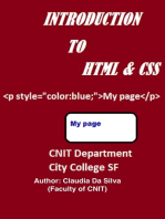 Introduction to HTML & CSS