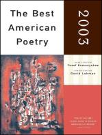 The Best American Poetry 2003