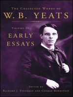 The Collected Works of W.B. Yeats Volume IV