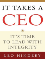 It Takes a CEO: It's Time to Lead with Integrity