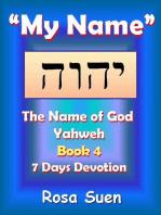 My Name, Yahweh