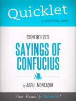 Quicklet on Confucius's The Sayings of Confucius (CliffNotes-like Summary)
