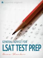 General Advice For LSAT Test Prep