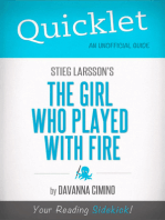 Quicklet on Stieg Larsson's The Girl Who Played with Fire (CliffNotes-like Book Summary)