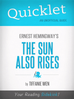 Quicklet On The Sun Also Rises By Ernest Hemingway