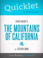 Quicklet on John Muir's The Mountains of California (CliffNotes-like Summary)