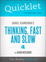 Quicklet on Daniel Kahneman's Thinking, Fast and Slow (CliffsNotes-like Summary, Analysis, and Commentary)