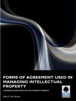 Forms of Agreement used in Managing Intellectual Property
