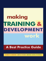 "Making Training & Development Work: A ""Best Practice"" Guide"