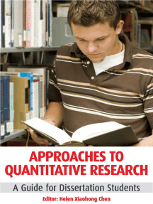 Approaches to Quantitative Research: A Guide for Dissertation Students