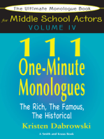 The Ultimate Monologue Book for Middle School Actors Volume IV