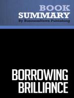 Borrowing Brilliance  David Kord Murray (BusinessNews Publishing Book Summary)