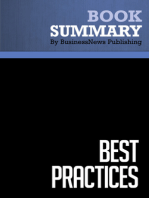 Best Practices  Robert Hiebeler, Thomas Kelly and Charles Ketteman (BusinessNews Publishing Book Summary)