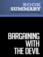 Bargaining With The Devil  Robert Mnookin (BusinessNews Publishing Book Summary)