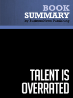 Talent is overrated  Geoff Colvin (BusinessNews Publishing Book Summary)