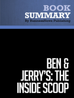 "Ben & Jerry's The Inside Scoop  Fred ""Chico"" Lager (BusinessNews Publishing Book Summary)"