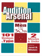 Audition Arsenal for Men in their 30's