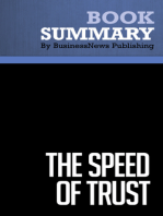 The Speed of Trust  Stephen M. Covey (BusinessNews Publishing Book Summary)