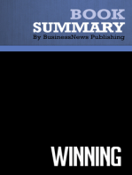 Winning  Jack Welch and Suzy Welch (BusinessNews Publishing Book Summary)