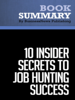 10 Insider Secrets To Job Hunting Success  Todd Bermont (BusinessNews Publishing Book Summary)