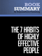 The 7 Habits of Highly Effective People  Stephen R. Covey (BusinessNews Publishing Book Summary)