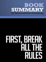 First, Break All the Rules  Marcus Buckingham & Curt Coffman (BusinessNews Publishing Book Summary)