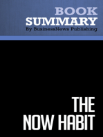 The Now Habit  Neil Fiore (BusinessNews Publishing Book Summary)