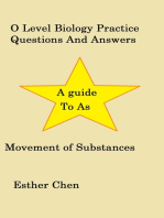 O Level Biology Practice Questions And Answers Movement of substances