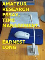 Amateur Research Essay