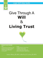 Give Through A Will & Living Trust