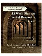 12 Week Plan for Verbal Reasoning Success