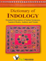Dictionary of Indology: Detailed description of indian scriptures, sanskrit books, author and trends